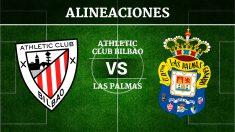 Consulta las posibles alineaciones del Athletic de Bilbao vs Las Palmas