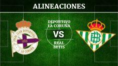 Consulta las posibles alineaciones del Deportivo de la Coruña vs Betis
