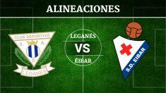 Consulta las posibles alineaciones del Leganés vs Éibar