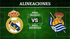 Consulta las posibles alineaciones del Real Madrid vs Real Sociedad