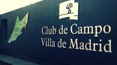 Entrada del Club de Campo Villa de Madrid. (Foto: FB)