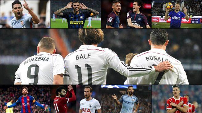 Diez delanteros 'top' llevan más goles que la BBC