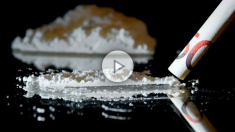 Una raya de cocaína