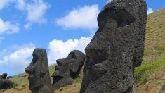 Las piedras de este museo han sido formadas naturalmente, a diferencia de los moais