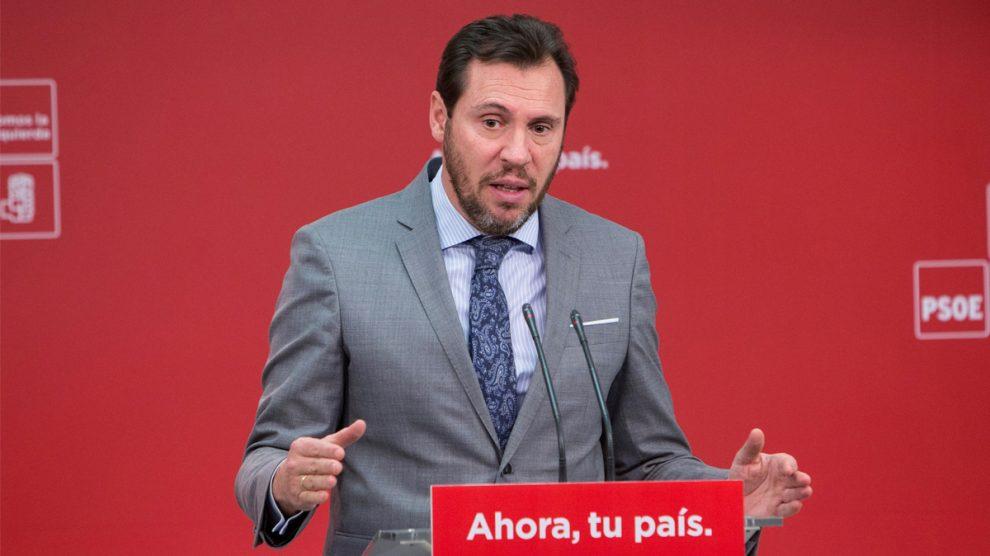 Óscar Puente, portavoz del PSOE. (Foto: EFE)
