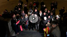 Puigdemont celebra sus 100 días huido en Bélgica (Foto: @adelgadoRne)