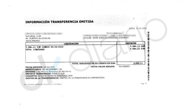 Reserva de Patricia González Cavero de 9.084 euros para un piso en Valdebebas (Madrid).