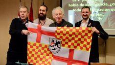 Tomás Guasch, Jaume Vives y Albert Boadella en un acto en favor de Tabarnia. (Foto: Francisco Toledo)