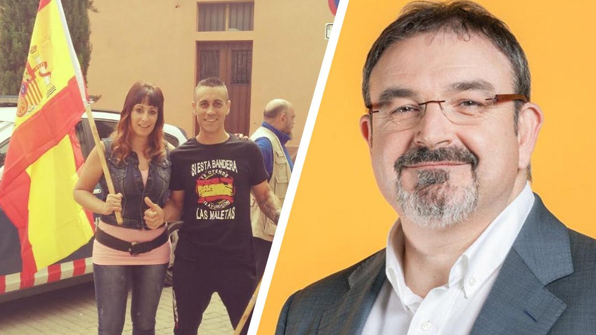 A la izquierda, Cristina y Jordi. A la derecha, el alcalde de ERC Isidre Viu, marido de la pediatra que se niega a atenderles.