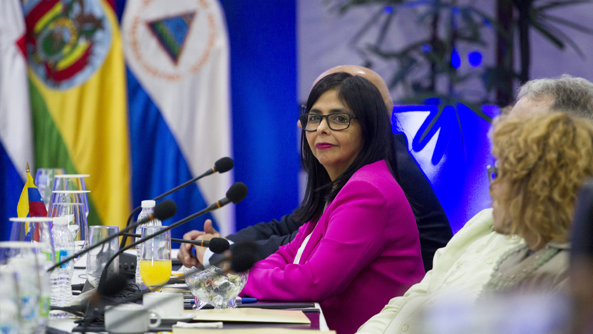 Delcy Rodríguez, vicepresidenta de Venezuela. (Foto: AFP)