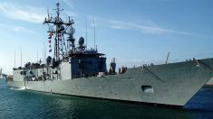 La fragata 'Victoria', de la Armada, donde se produjo el incidente durante la 'operación Atalanta' contra la piratería.