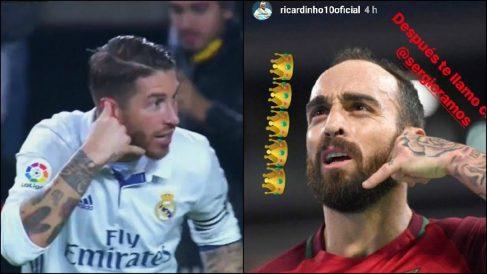 Sergio Ramos y Ricardinho.