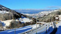 Las líneas de ferrocarril se han visto afectadas por el temporal de frío y nieve.