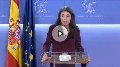 """La portavoz de Podemos en el Congreso, Irene Montero, acuña un nuevo término: """"portavozas"""""""