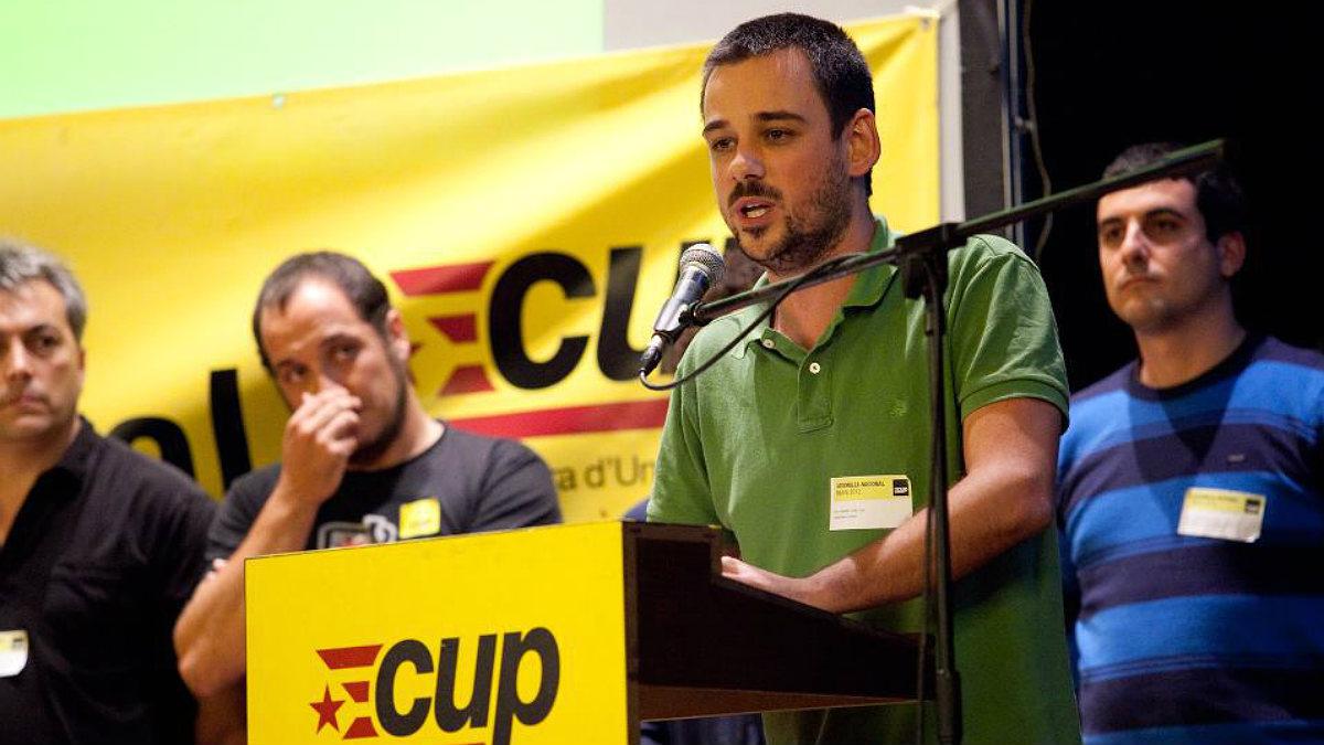 Lluc Salellas, concejal de la CUP en Gerona.