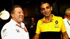 Cyril Abiteboul, máximo responsable de Renault en la Fórmula 1, ha declarado que McLaren no tendrá ninguna influencia en el propulsor galo al menos hasta el año 2020. (Getty)