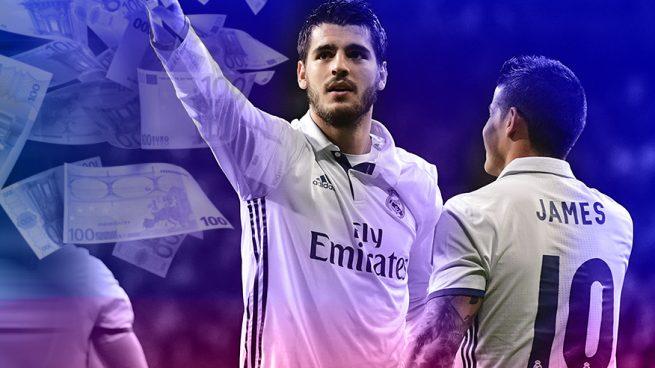 Morata y James, las mayores ventas del Real Madrid esta temporada.