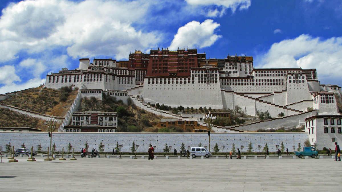 El Palacio Potala, la antigua residencia de los Dalái Lama