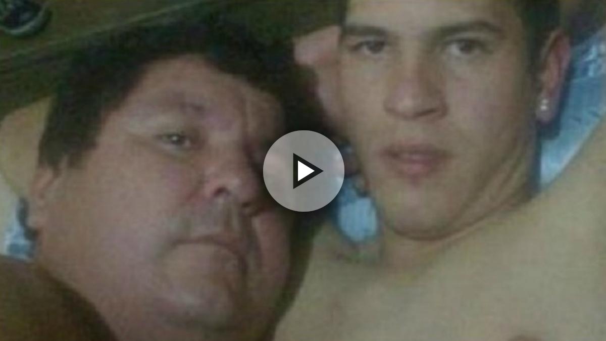 Las imágenes del futbolista de Paraguay, Bernardo Gabriel Caballero, con su entrenador.