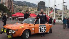 Fernández Cosín con el dorsal 155 en su coche