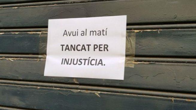 Cartel del mecánido del odio en Reus