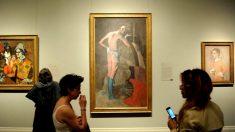 La obra 'The actor', de Pablo Picasso, expuesta en el MET de Nueva York.