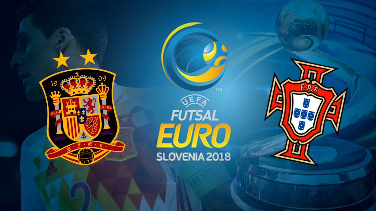 España Vs Portugal: final del Europeo de fútbol sala.