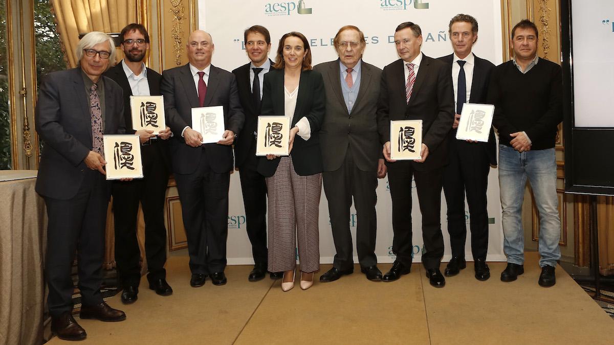 """Acto de entrega de los premios """"Excelentes del Año""""en gestión de servicios públicos que otorga la AESP."""