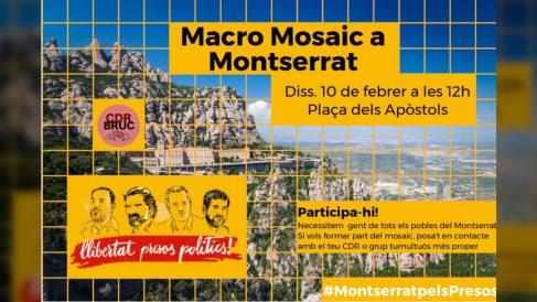 Cartel de los CDR para el mosaico reivindicativo en  Montserrat