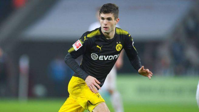 Christian Pulisic, durante un partido del Borussia Dortmund.