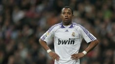 Robinho durante un partido con el Real Madrid. (Getty)