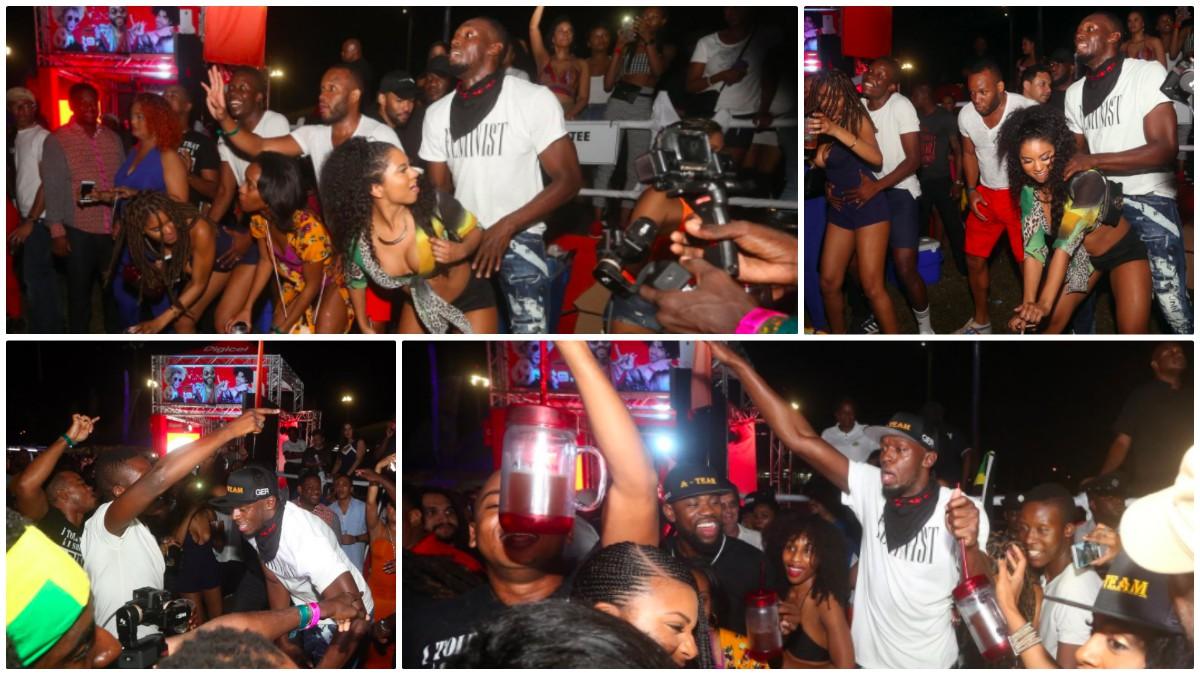 Usain Bolt se lo pasó en grande en los carnavales de Trinidad y Tobago.