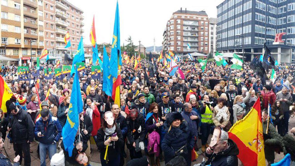 Manifestación de la asociación Jusapol.