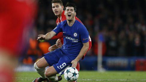 Álvaro Morata, en un partido de esta temporada con el Chelsea. (AFP)