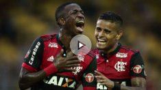 Vinicius anotó un golazo para el Flamengo.