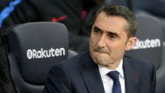 Ernesto Valverde durante el encuentro ante el Getafe. (AFP)