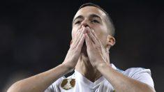Lucas Vázquez celebra un tanto de esta temporada. (AFP)