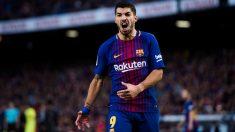 Luis Suárez se lamenta de una ocasión fallada ante el Getafe. (Getty)