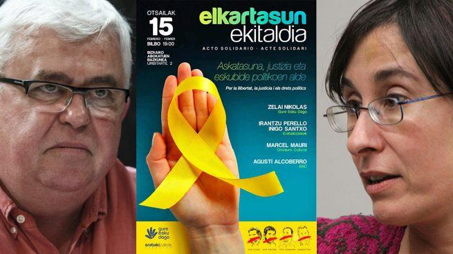 El separatismo vasco sale al rescate del catalán con un acto por los presos golpistas en Bilbao