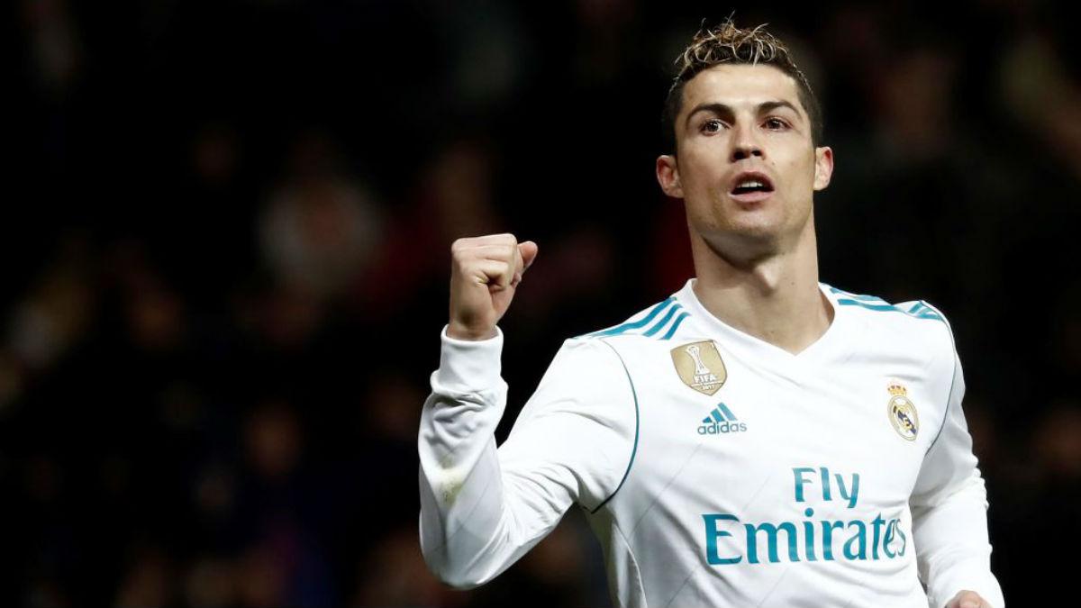 Cristiano Ronaldo celebra uno de sus goles a la Real Sociedad (Getty).