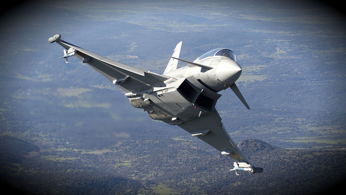 Avión 'Eurofighter' del Ejército del Aire español.