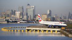 Aeropuerto de la Ciudad de Londres. (Foto: AFP)