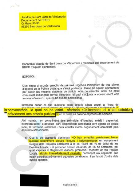Denuncia contra el ayuntamiento de San Juan de Vilatorrada