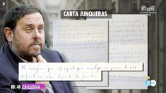 Carta de Oriol Junqueras a 'El programa de Ana Rosa'.