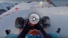 Max Verstappen ha demostrado toda su pericia al volante siendo capaz de controlar su monoplaza de Fórmula 1 en pleno descenso por una estación de esquí.