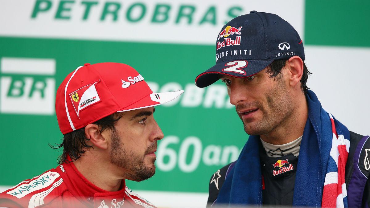Mark Webber piensa que la verdadera razón por la que Alonso corre en otras categorías además de en la Fórmula 1 es porque no puede optar al título mundial de ésta. (Getty)