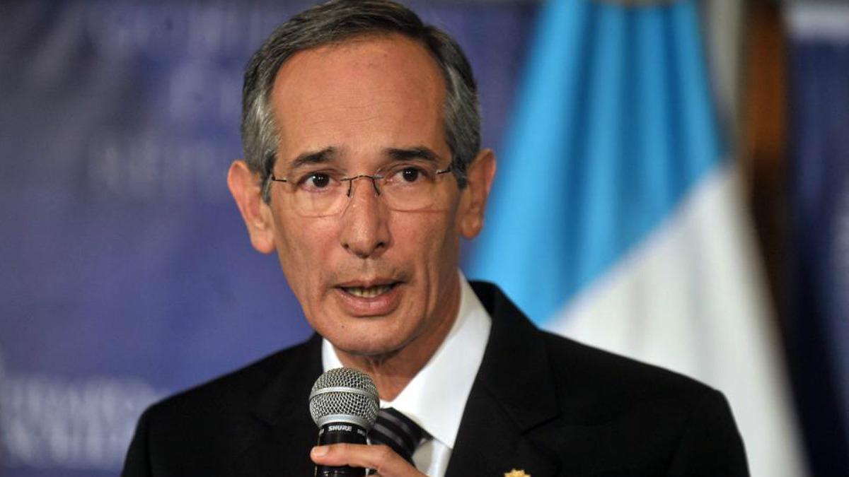 El ex presidente de Guatemala Álvaro Colom.