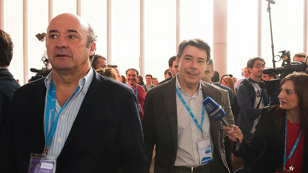 Beltrán Gutiérrez, ex gerente del PP de Madrid, junto a Ignacio González (Foto: PP)