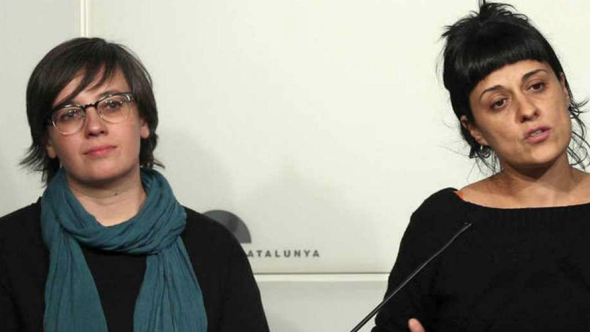 Mireia Boya y Anna Gabriel, dirigentes de la CUP investigadas por el TS