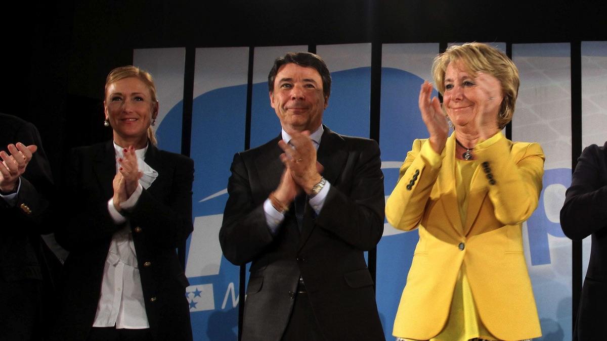 Cristina Cifuentes, Ignacio González y Esperanza Aguirre. (Foto: PP)